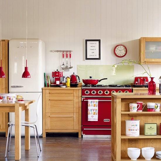Cute houses: Cocinas rojas con personalidad