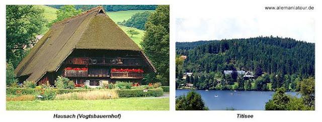 Dos imágenes de la Selva Negra alemana