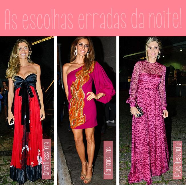 Grazi Massafera, Fernanda Lima, Flávia Alessandra, bregas, mal vestidas, erros, festa, atriz, celebridades, vestidos