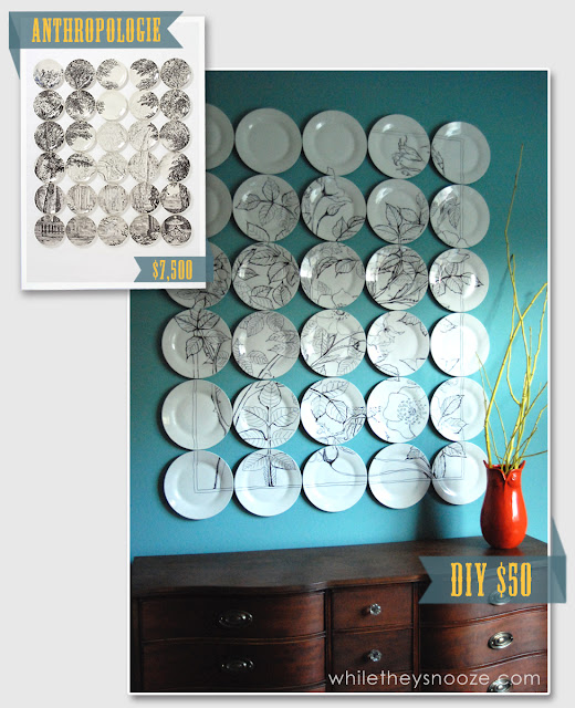 Diy Anthropologie Wall Decor : Diy anthropologie knockoff wall art homes