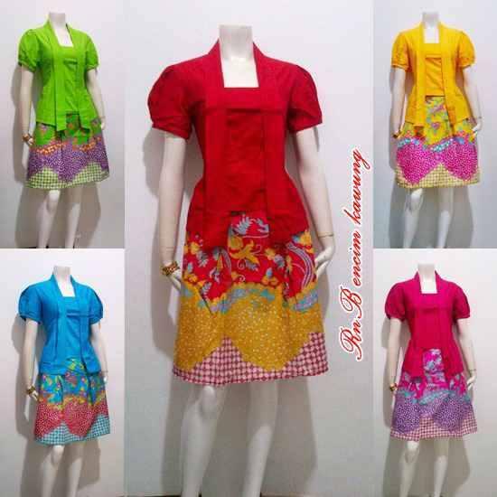 Model Baju Mini Dress Batik