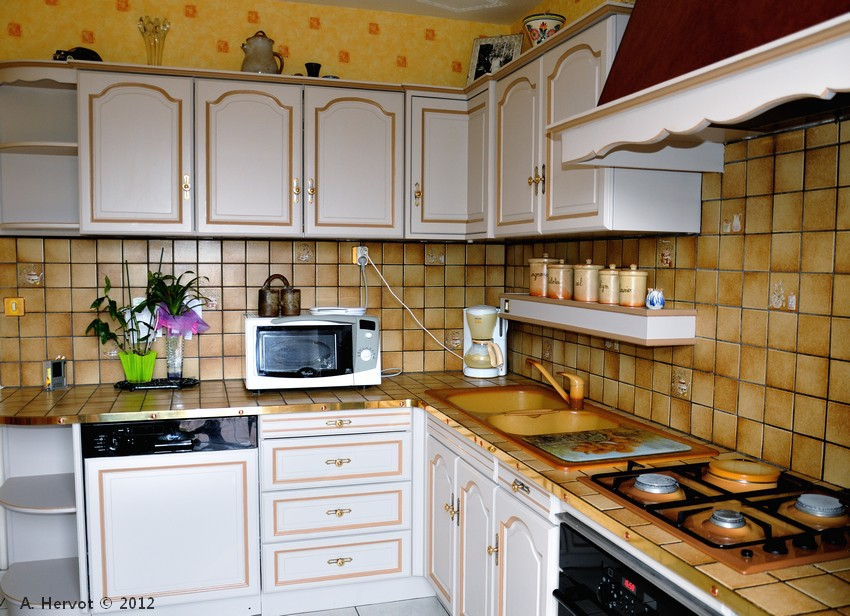 Ambiances bois patines cuisine relook e chanvre avec - Cuisine relookee photos ...