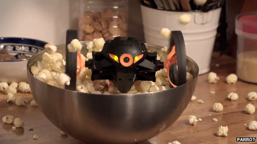 2014 Consumer Electronics Show, CES 2014, insect robot, Jumping Sumo, MiniDrone, Parrot, Parrot's Jumping Sumo, toys