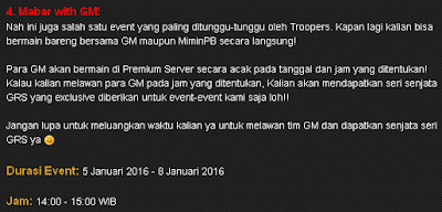 Event Mabar Bareng GM Point Blank PB Garena Indonesia