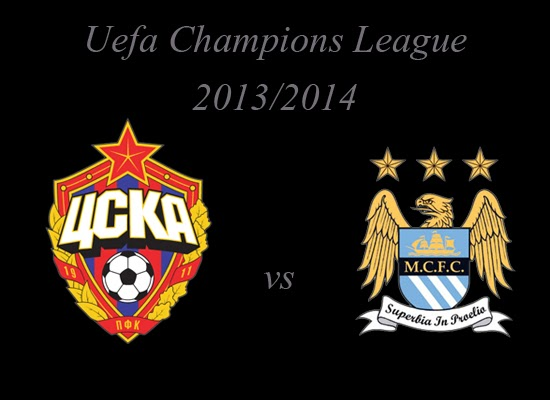 Champions League Group Stage CSKA Moskva vs Manchester City 2013