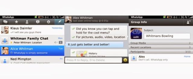 تحميل وشرح تطبيق واتس آب ماسنجر لأجهزة بلاك بيري مجاناً WhatsApp  for blackberry 2.11.409