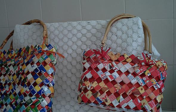 Bolsa Feita Com Caixa De Leite E Tecido : Feito por mim artesanato para iniciantes bolsa de