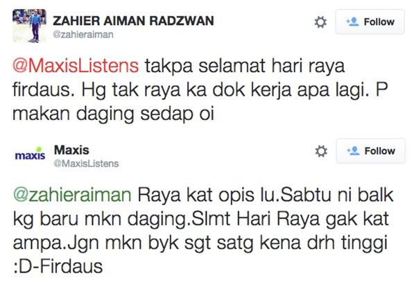 Perbualan Sempoi Staff Maxis Listens Mencuit Hati!
