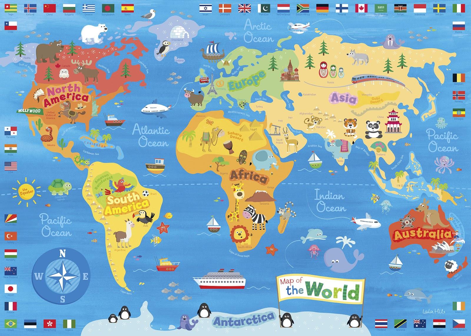 Willowandme world map canvas print world map canvas print gumiabroncs Images