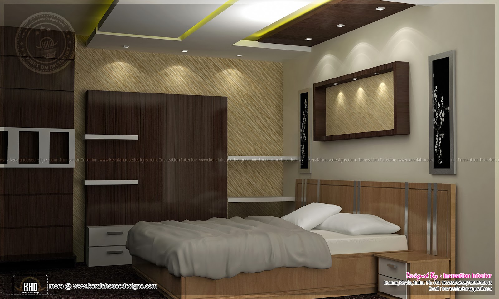 Kerala home design interior bedroom - Bedroom Interior Bedroom Interior Courtyard