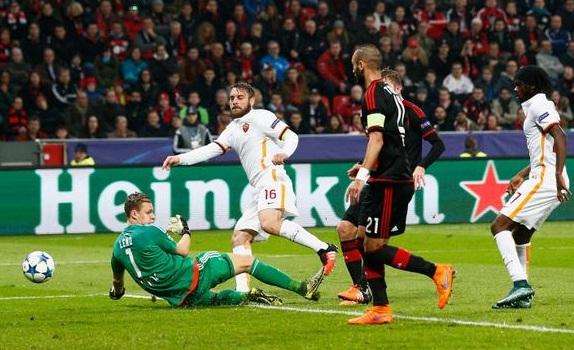 Hasil UCL: Bayer Leverkusen 4-4 Roma Rabu Dini Hari 21 Okt 2015