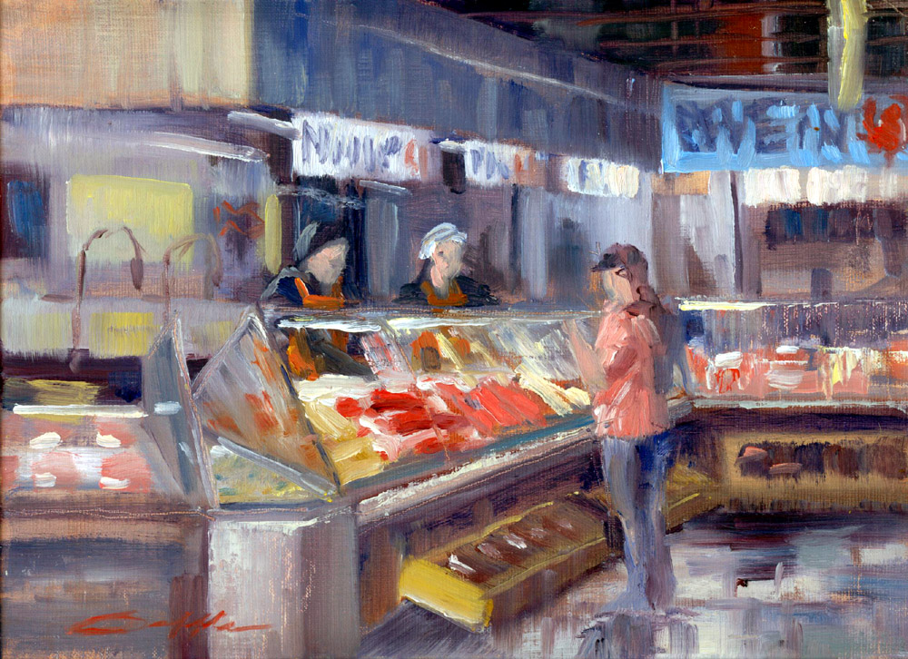 Randy saffle in the field plein air painting adventures for Central fish market