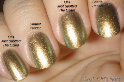 chanel peridot dupe opi just spotted the lizard comparison
