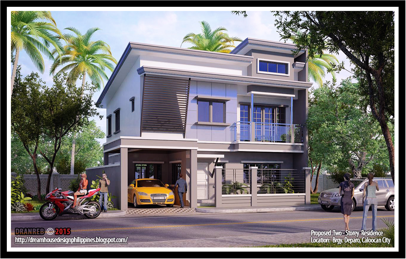 Philippine dream house design two storey house in for Philippine houses design pictures