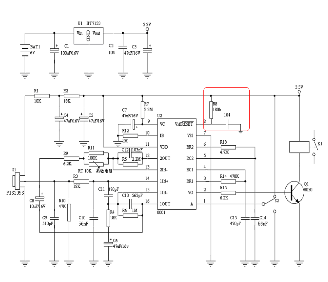 Random Tech Stuff Lidl Pir Nightlight Teardown And Hack Pin Sensor Circuit On Pinterest Reference Design Schematic From Lp0001 Datasheet