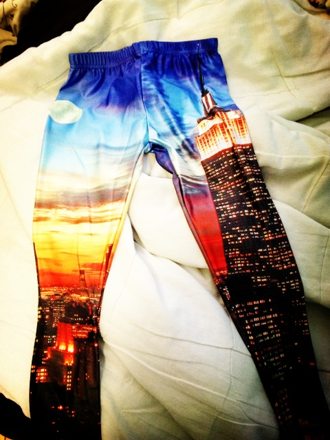 Romwe New York Skyline leggings