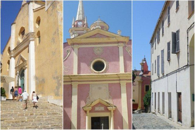 Iglesia de Saint Jean Baptiste e Iglesia de Sainte-Marie-Majeure en Calvi, Corcega