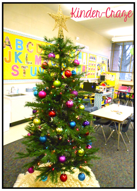 decorate a Christmas tree in your classroom
