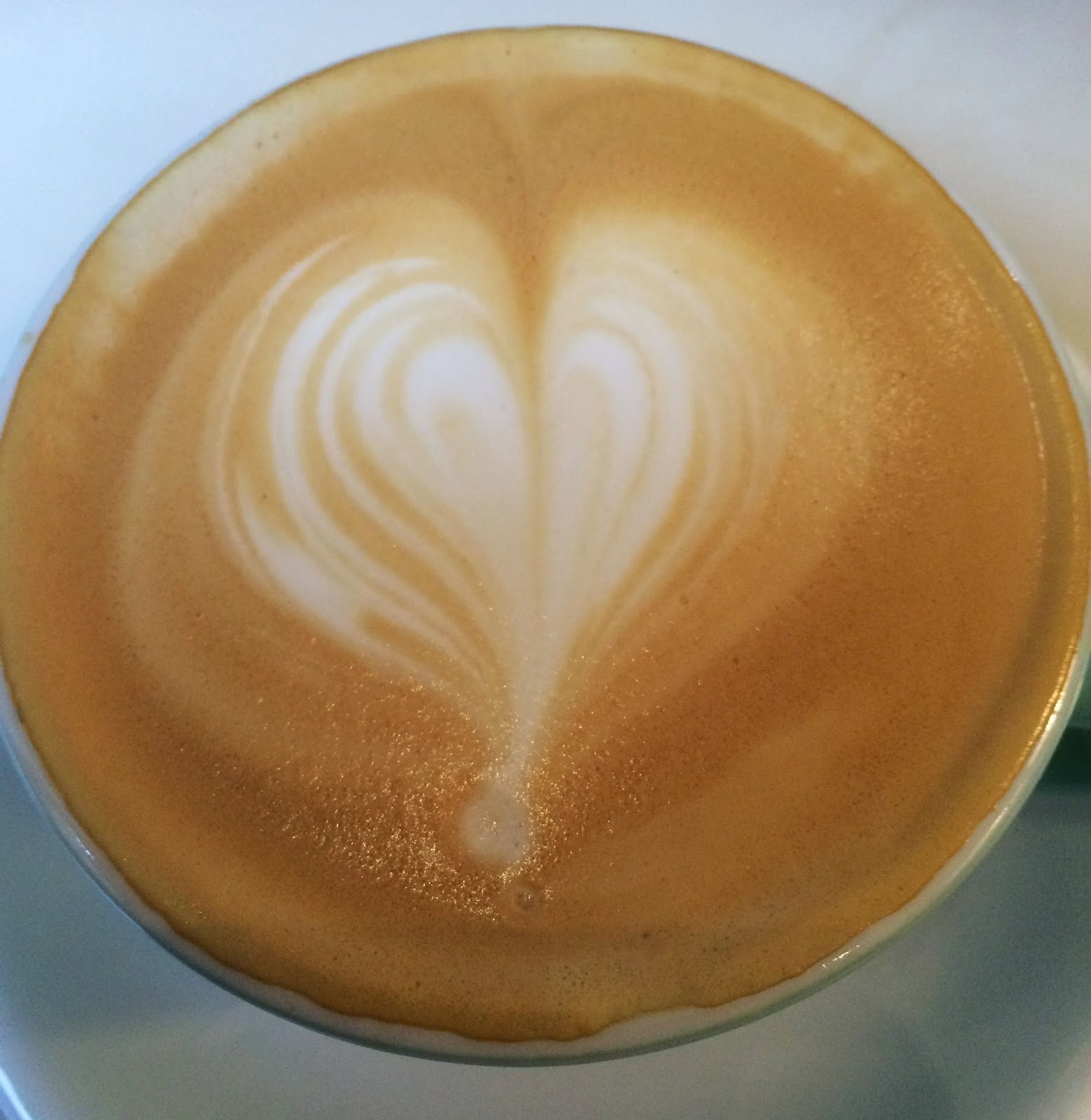 Frothy Coffee with Balloon image on top