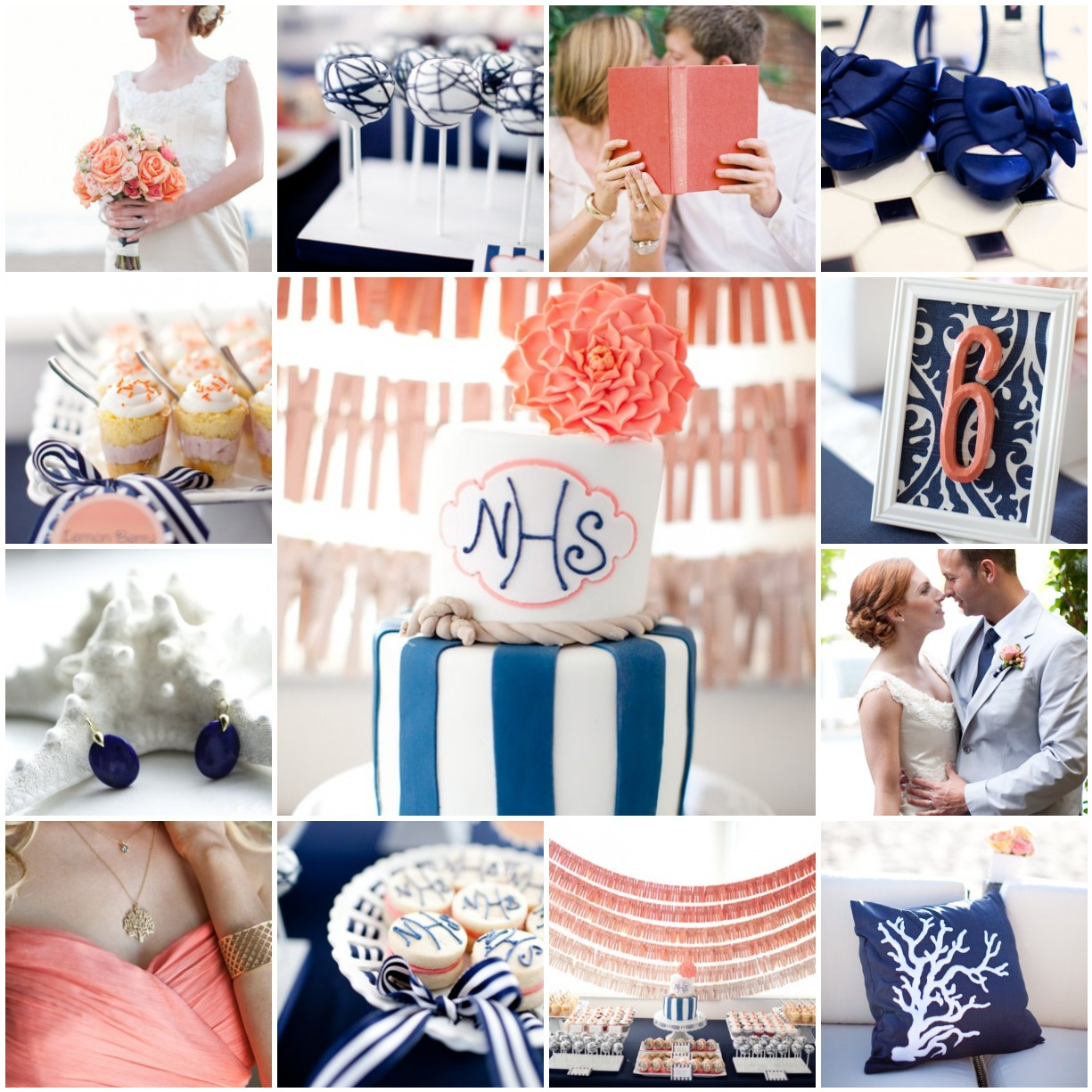Navy Blue And Coral Wedding: Navy & Coral Wedding
