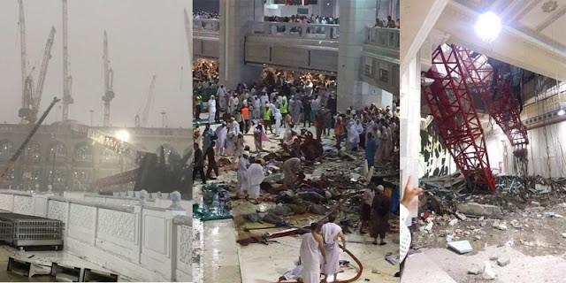 Tragedi Crane Jatuh Di Mekkah yang Menimbulkan Korban Jiwa