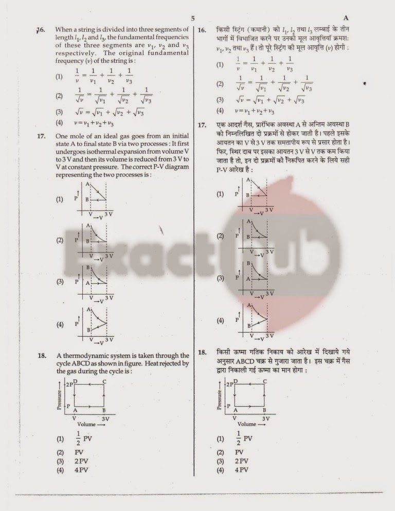 AIPMT 2012 Exam Question Paper Page 5