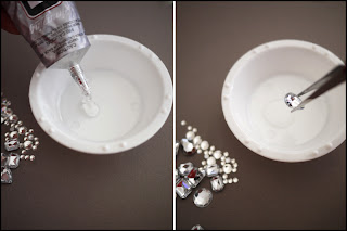 Jewelled Heels | DIY Step 1 | Via Mazzini Blog