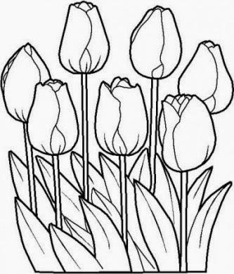 Foto Divertenti Tulipani Da Colorare