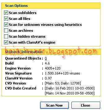 Clamav 0.97 PCMAV Plugins