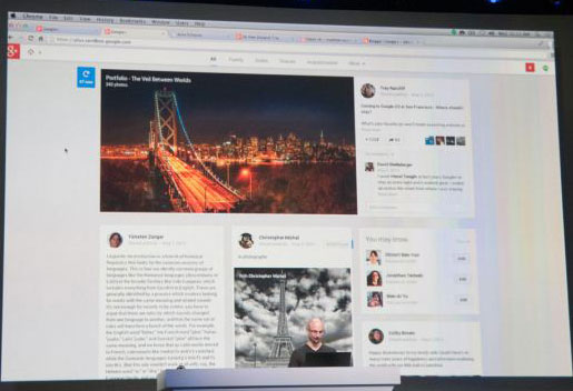 Multicolumn Google+ Media images