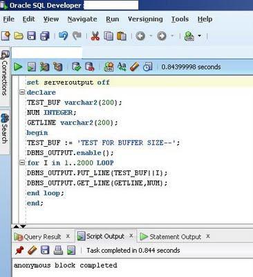 dbms_output. DBMS_OUTPUT.