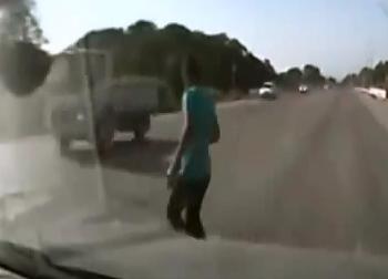 Aplastado por Camion
