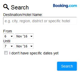 best hotels via booking.com