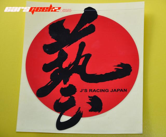 J'S Racing Japan stikcer 3
