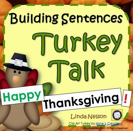 http://www.teacherspayteachers.com/Product/Building-Thanksgiving-Sentences-at-the-Pocket-Chart-Turkey-Talk-166153