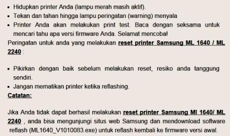 gambar cara reset printer samsung