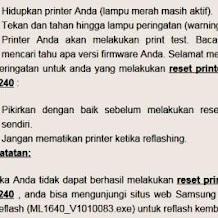 Cara Mudah Reset Printer Samsung ML1640/2240