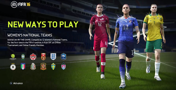 FIFA 16 Woman Team