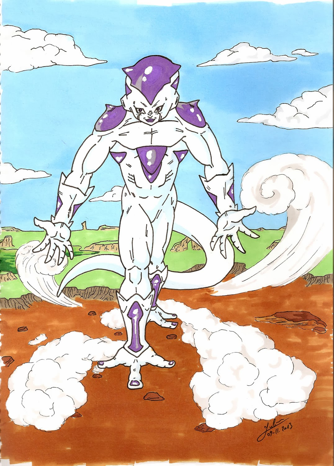 [DBZ] Illustration de Freezer aux promarkers