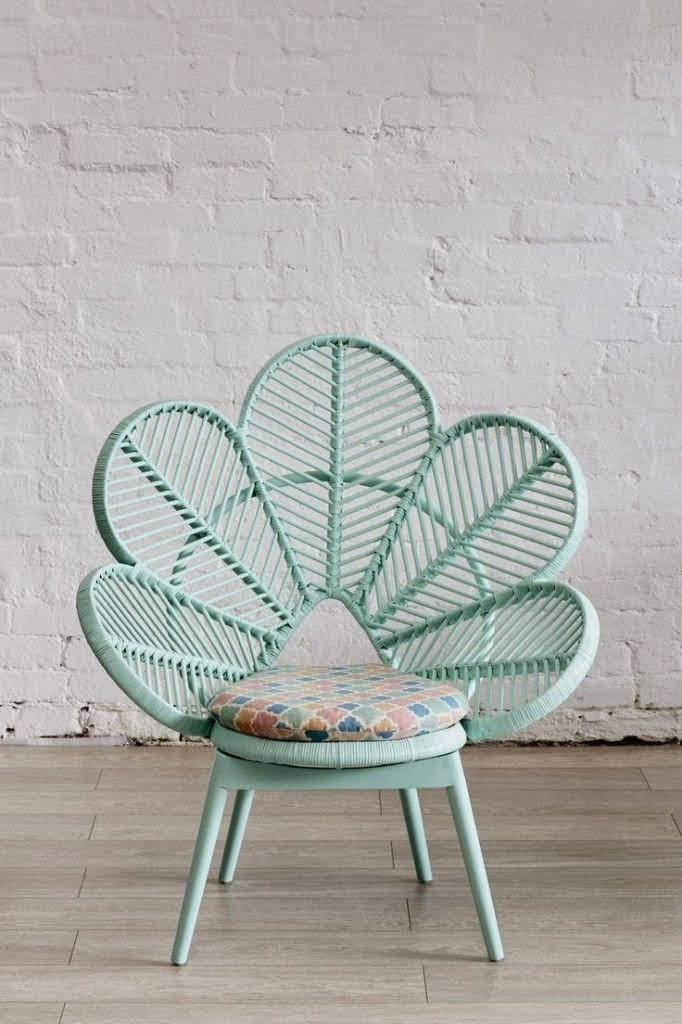 beautiful wicker chair
