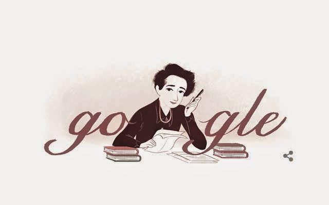 Hannah Arendt Teoretikus Politik Jerman Muncul di Google Doodles