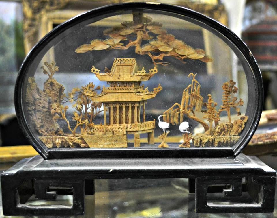 Chinese cork sculptures