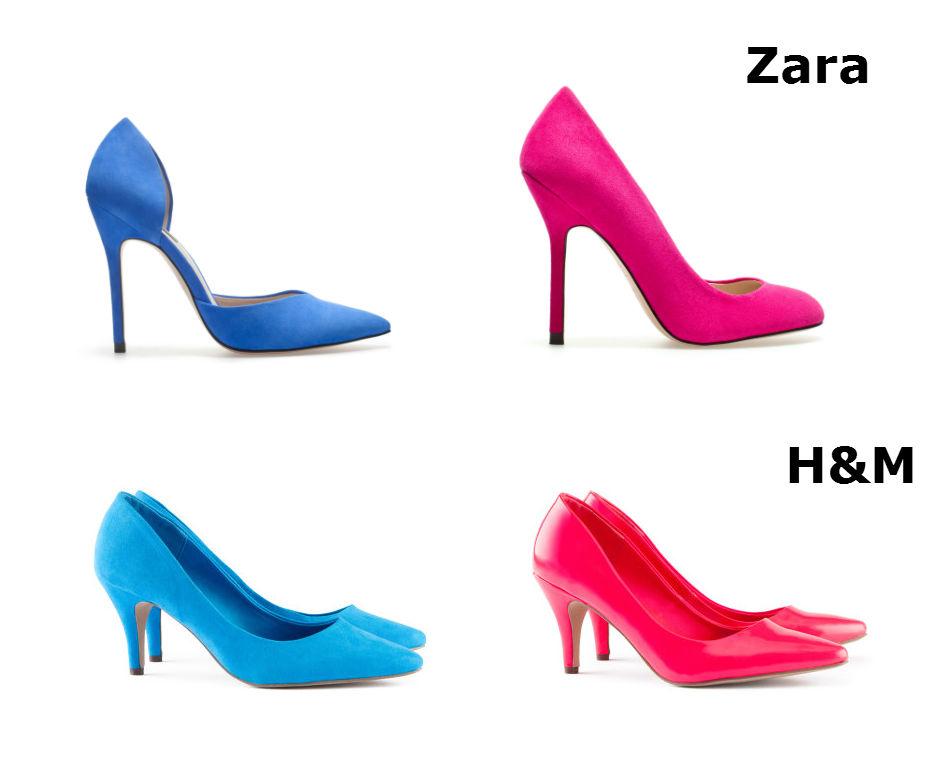 charada tendencias zapatos de colores
