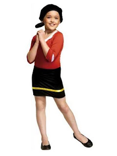 Olive Oyl Kids Costume