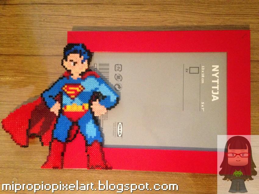 Mi Propio Pixel Art con Hama Beads: Marco Superman
