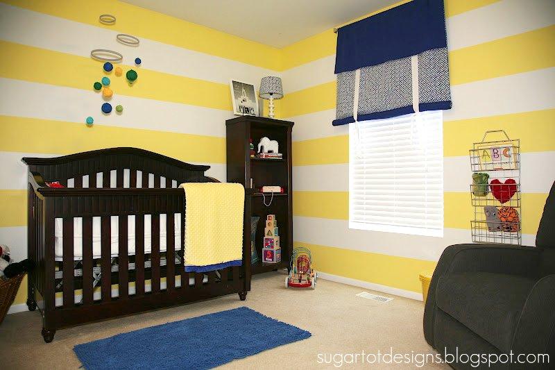 sugartotdesigns: Yellow Striped Nursery