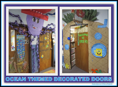 Ocean Themed Decorated Doors {Ocean RoundUP at RainbowsWithinReach: Over 100 IDEAS!}