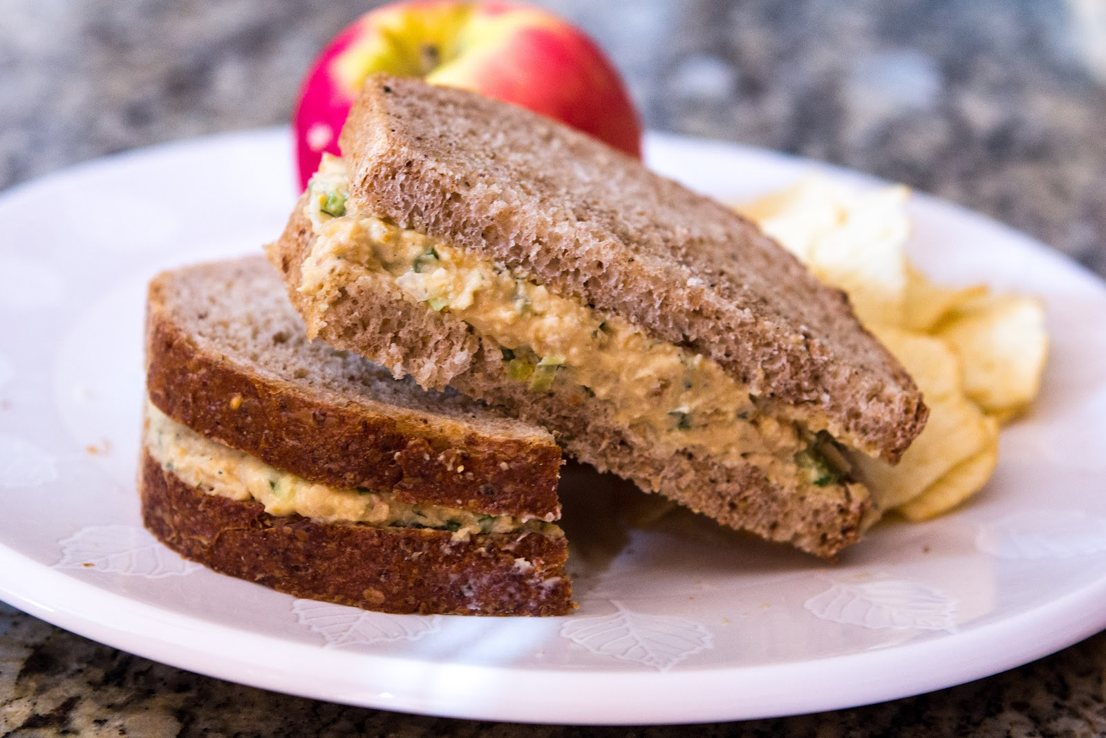 ... : Healthy Protein Lunch: Chickpea Sandwich Spread (Vegetarian/Vegan