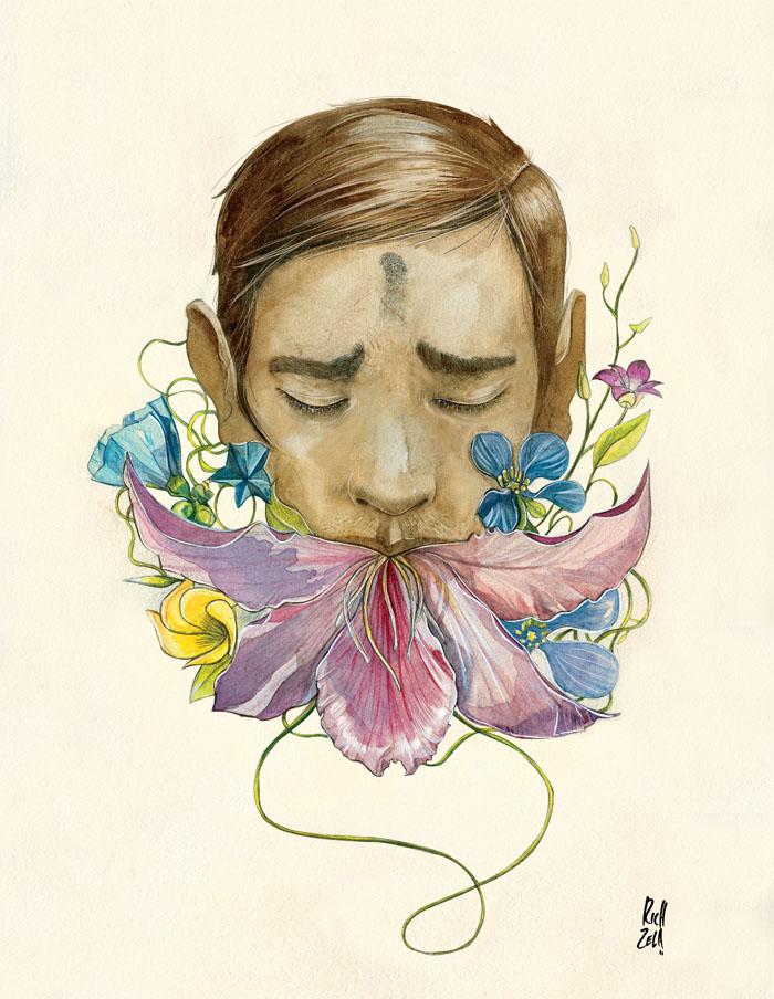 Arte organico y asimetrico de Richard Zela.(ilustraciones)