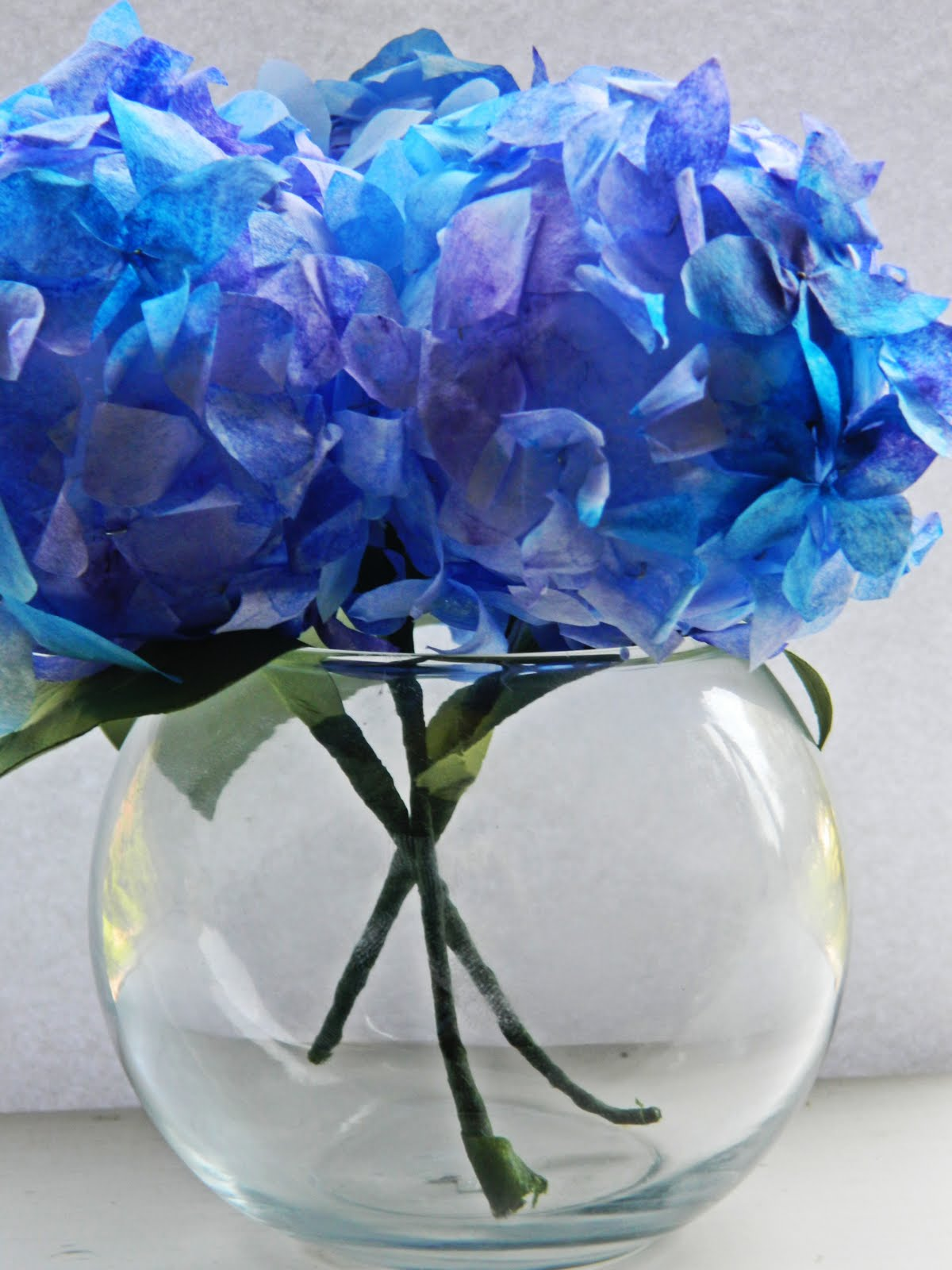 Paper Pendulum Coffee Filter Hydrangeas